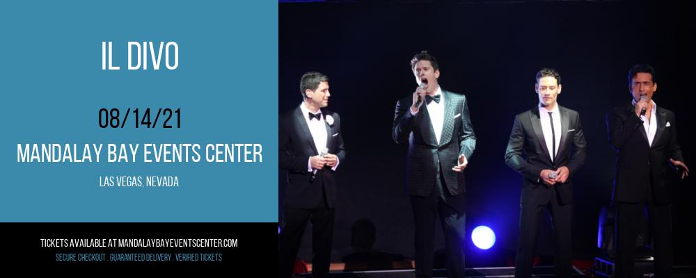 Il Divo at Mandalay Bay Events Center